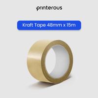 Kraft Tape Coklat / Lakban Kertas Coklat / Masking Tape - 48 mm x 15m
