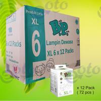 BP Popok Dewasa Adult Diapers model Perekat ukuran XL isi 6 pcs x 12