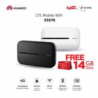 Modem Mifi Huawei E5576 4G Unlock All Operator - Free Kuota 14GB