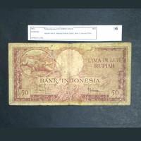 Uang Kuno 1957 Seri Hewan Buaya Rp.50,-
