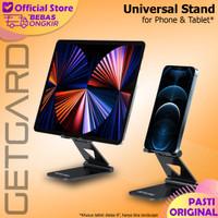 Desk Stand Holder HP Smartphone Tablet Portable Folding Aluminium - Hitam