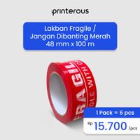 Lakban Fragile Besar / Jangan di Banting 110 Yard - 48mm x 100meter