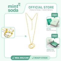 Mint Soda Korea - Kalung Emas 24K / 999 - Past Present Future