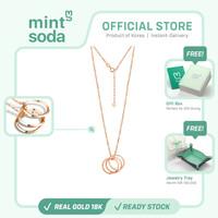 Mint Soda Korea - Kalung Emas 18K / 750 - Past Present Future