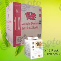 BP Popok Dewasa Adult Diapers model Perekat ukuran M isi 10 pcs x 12