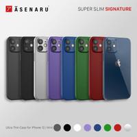 Asenaru iPhone 12/Mini Case Super Slim Signature Casing
