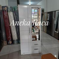 lemari 2 pintu putih popular