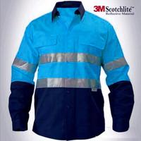Baju Wearpack Kerja Workwear Seragam Safety Navy-Turquoise Biru Turkis