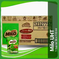 Nestle Susu Milo Activ Go UHT Sekarton Isi 36 x 110 Ml