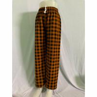 celana panjang cowok/cewek motif kotak-kotak bahan waffle spandex