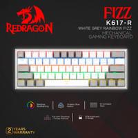 Redragon Mechanical Gaming Keyboard 60% WHITE GREY RAINBOW FIZZ-K617-R
