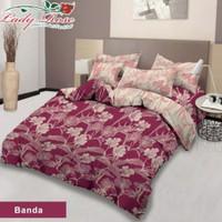 Bed Cover Set 180x200 Lady Rose   Motif mix   Halus Lembut - banda