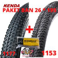 Ban luar 26 x 1.95 kenda ban dalam 26 kingland paket ban sepeda mtb