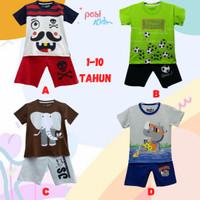 Baju Setelan Anak Laki laki Karakter Ukuran 7-10 Tahun