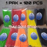kabel ties 15 cm 2.7x150mm ties warna cable ties kabel ties warna