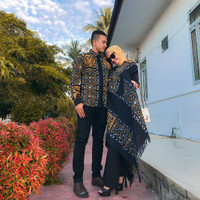 set couple tenun ikat troso/baju batik couple/setelan baju preweed - Dress only, XS