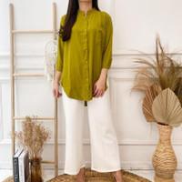 Atasan Baju Kemeja Wanita Tunik Polos Bahan Bottega