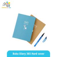 Notebook Buku Tulis Catatan Diary 365 hari Hard Cover - Sky Blue