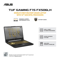 Asus TUF FX506LH I565B6B i5 10300 8GB 512SSD GTX1650 W10 144Hz 15.6FHD