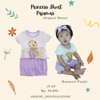 HACHI baju princess disney anak kaos anak disney short pajamas disney - rapunzel 0012/1, 90