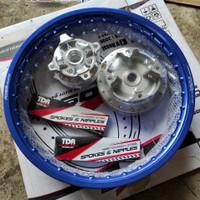 Velg jari jari PCX ring 17 Rossi blue ruji TDR tromol chrome sepasang