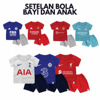 Setelan Baju Kaos Jersey Bola Inggris Untuk Bayi dan Anak Bahan Katun