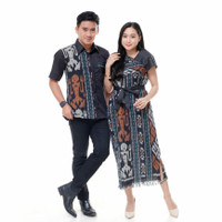 set couple tenun ikat troso/baju batik couple murah/baju prewedd - Dress Only, All Size