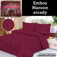 Terlaris Bedcover set + sprei Emboss uk. King Size 180x200
