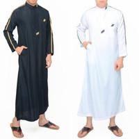 Gamis Pria Panjang Baju Muslim Cowok Jubah Saudi Pakistan Premium