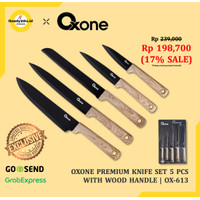 Oxone Premium Knife Set Stainless with Wood Handle OX501 | 5pcs OX-501