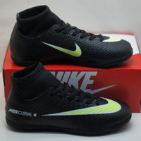 Sepatu futsal nike mercurial murah size 38-44 - Hitam Hijau, 38