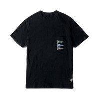 Kapital 4 Flags Torami Pocket T-Shirt Black - S