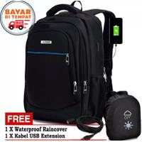 Polo Power Tas Pria Ransel Laptop Backpack Import USB Port Expanding