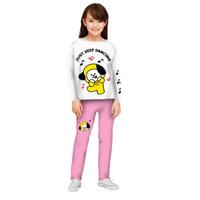 Setelan Baju Tidur Anak Perempuan/Piyama Panjang Anak Perempuan 3-12th - PJPPC, M