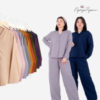 Polos - Cozy Pajamas Lengan Panjang / Piyama Oversize Katun PP