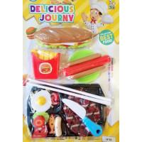 Mainan Burger Kentang Ayam Goreng Pizza Playfood Masak Masakan Kitchen