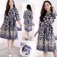 Baju Gaun Mini Dress Batik wanita modern minidress remaja Batik Kultur