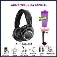 Audio Technica ATH-M50XBT Wireless Over Ear Headphone ATH M50X BT - M50xBT2 Black, Thumbler Only