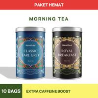 MORNING TEA BUNDLING   Classic Earl Grey & Royal Breakfast   Big Tin