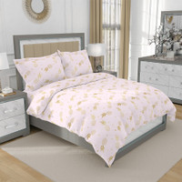 Bed Cover Only King Loreta Kintakun D'luxe Gold Pink 230 x 240