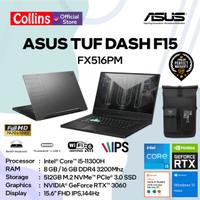 ASUS TUF DASH F15 FX516PM i5-11300H 8/16GB 512GB RTX3060 144Hz W10 OHS