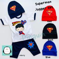 Setelan Baju Anak Laki-Laki Motif Karakter Baru Topi 6 Bulan - 1 Tahun