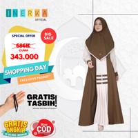 Adeva Dress Gamis | Setelan Muslim Bahan Crepe Premium | Army