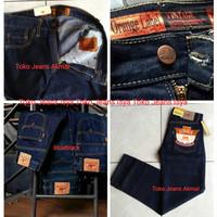 Celana Jeans Standar/Reguler Panjang Pria Lea Biru Dongker 28 - 32