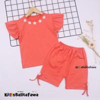 Setelan Oceana 1-2 tahun /Set Baju Lengan Celana Pendek Anak Perempuan