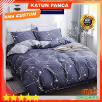 Bedcover Set 140X200 T30 Katun Panca BadCover Bad Cover Bed Cover