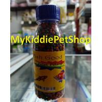 Pelet ikan kura koi koki gupy cupang pelangi mix merah hijau 2mm 100gr