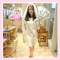 Paket Selempang Bridal Shower / Bride To Be Sash & Small Tiara Crown