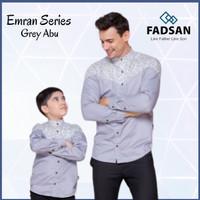 Koko Couple Ayah Dan Anak Laki Lengan Panjang Emran Grey Abu Fadsan - Grey/Abu-Abu, Dewasa-M