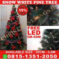 Pohon Natal Berkualitas Glitter Pine Tree Uk 5Ft/150 cm